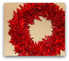 chili wreath; feng shui in the home
